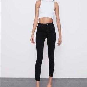 Zara Black Stretch High Rise Skinny Jeans Jeggings